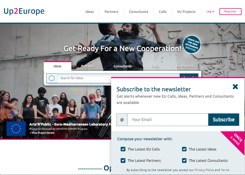 Up2Europe homepage :: Ideas Accelerator for European Cooperation